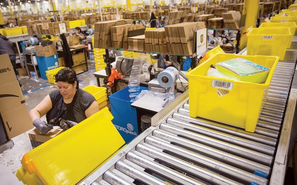 Employees of Amazon Warehouse